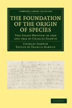 The Foundation of the Origin of Species: Two…