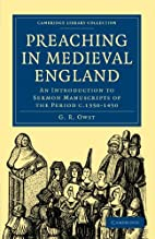Preaching in Medieval England: An…