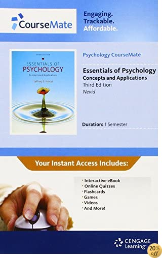 Psychology CourseMate with eBook Printed Access Card for Nevid's Essentials of Psychology: Concepts and Applications, 3rd