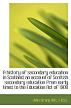 A history of secondary education in…