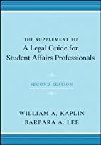 The Supplement to A Legal Guide for Student…