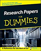 Research Papers For Dummies by Geraldine…