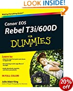 Canon EOS Rebel T3i/600D For Dummies