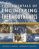 Moran, Michael J.: Fundamentals of Engineering Thermodynamics, Appendices