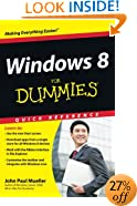 Windows 8 For Dummies Quick Reference (For Dummies: Quick Reference (Computers))