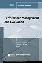 Performance Management and Evaluation: New…