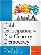 Public Participation for 21st Century…