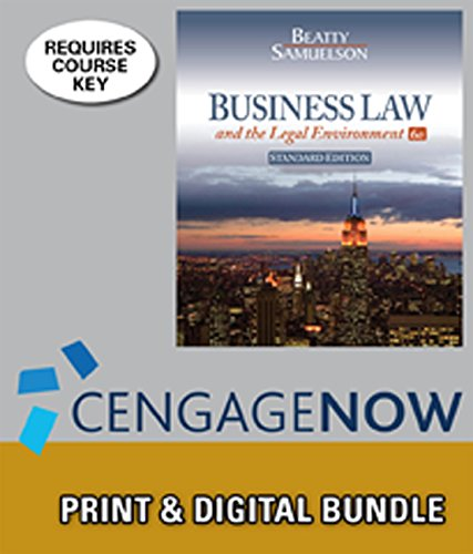 bundle-business-law-and-the-legal-environment-standard-edition-6th-cengagenow-2-terms-printed-access-card