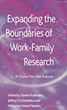 Expanding the boundaries of work-family…