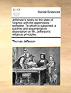 Jefferson's notes on the state of…