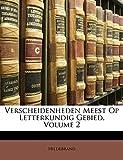Hildebrand: Verscheidenheden Meest Op Letterkundig Gebied, Volume 2 (Dutch Edition)
