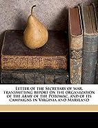 Letter of the Secretary of war, transmitting…