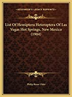 List Of Hemiptera Heteroptera Of Las Vegas…
