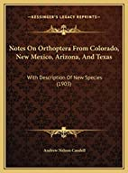 Notes On Orthoptera From Colorado, New…
