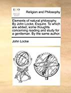 Elements of natural philosophy. By John…