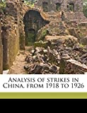 Chen, Da: Analysis of strikes in China, from 1918 to 1926