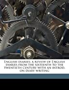 English Diaries by Arthur Posonby, Baron…