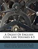 Jenks, Edward: A Digest Of English Civil Law, Volumes 4-5