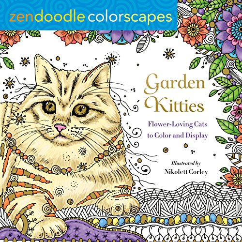zendoodle-colorscapes-garden-kitties-flower-loving-cats-to-color-and-display