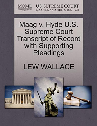 maag-v-hyde-us-supreme-court-transcript-of-record-with-supporting-pleadings