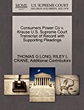 LONG, THOMAS G: Consumers Power Co v. Krause U.S. Supreme Court Transcript of Record with Supporting Pleadings