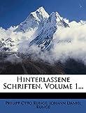 Runge, Philipp Otto: Hinterlassene Schriften, Volume 1... (German Edition)