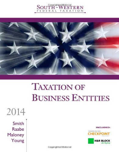 south-western-federal-taxation-2014-taxation-of-business-entities-professional-edition-with-hr-block-home-tax-preparation-software-cd-rom