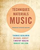 Techniques and Materials of Music: From the…