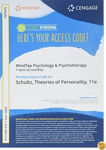 MindTap Psychology, 1 term (6 months) Printed Access Card for Schultz/Schultz's Theories of Personality, 11th (MindTap Course List)