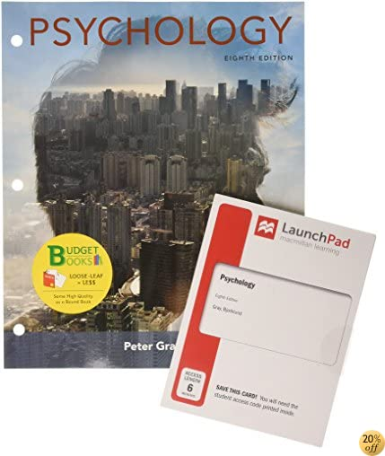 Loose-leaf Version for Psychology & LaunchPad for Gray's Psychology (Six-Months Access)