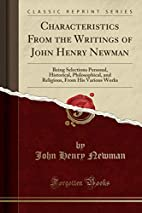 Characteristics from the writings of John…