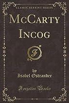 McCarty, Incog. (1922) by Isabel Ostrander