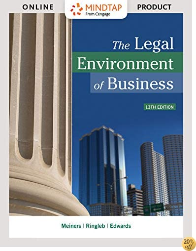 MindTap Business Law, 1 term (6 months) Printed Access Card for Meiners/Ringleb/Edwards' The Legal Environment of Business (MindTap Course List)