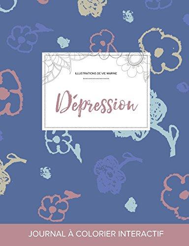 journal-de-coloration-adulte-dpression-illustrations-de-vie-marine-fleurs-simples-french-edition