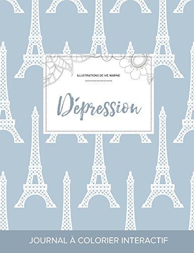 journal-de-coloration-adulte-dpression-illustrations-de-vie-marine-tour-eiffel-french-edition