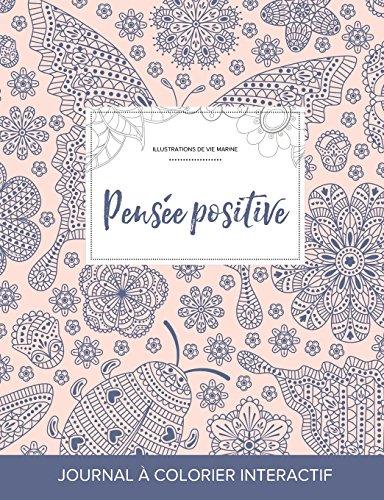journal-de-coloration-adulte-pense-positive-illustrations-de-vie-marine-coccinelle-french-edition