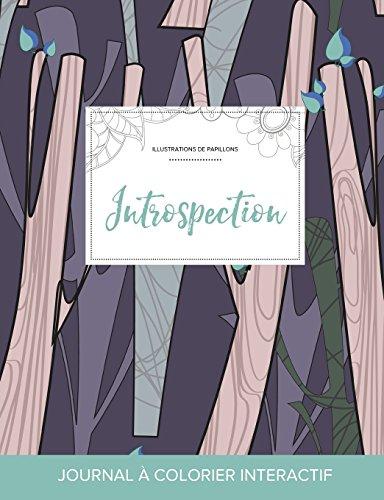 journal-de-coloration-adulte-introspection-illustrations-de-papillons-arbres-abstraits-french-edition