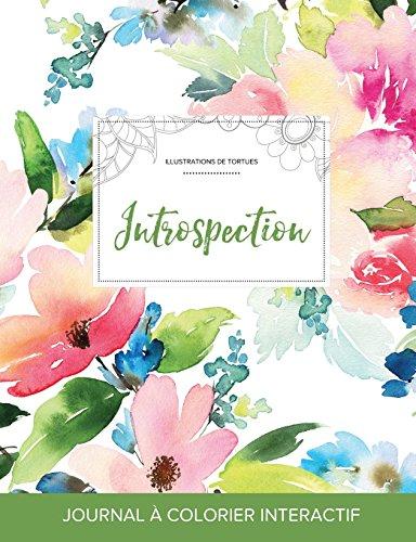 journal-de-coloration-adulte-introspection-illustrations-de-tortues-floral-pastel-french-edition
