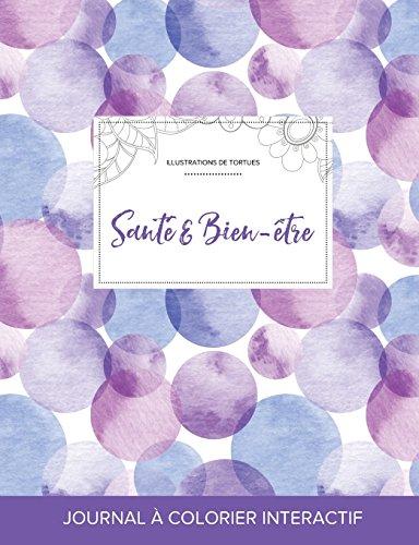 journal-de-coloration-adulte-sant-bien-tre-illustrations-de-tortues-bulles-violettes-french-edition