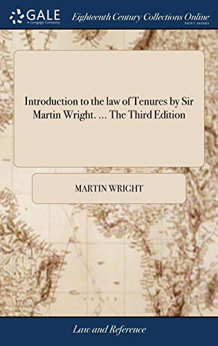 introduction-to-the-law-of-tenures-by-sir-martin-wright-the-third-edition