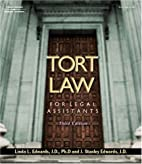 Tort law for legal assistants by Linda L.…