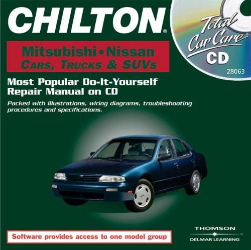 total-car-care-cd-rom-mitsubishi-nissan-cars-trucks-suvs-1982-2000-jewel-case-chilton-total-car-care-series-cds