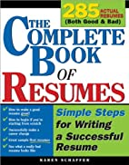 The The Complete Book of Resumes: Simple…