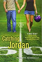 "cover art for Code Name Verity by Miranda Kenneally, featuring a young white woman and a young white man walking across a football field hand in hand. The picture is cropped so their heads aren""t visible. The girl wears a pair of cut-offs and a brown tank top and carries a purple football helmet. The boy wears a pair of loose jeans and a beige t-shirt"