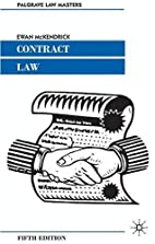 Contract Law (Palgrave Law Masters) by Ewan…