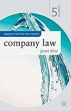 Company Law (Palgrave Macmillan Law Masters)…
