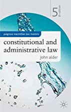 Constitutional and Administrative Law…