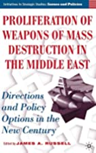 Proliferation of Weapons of Mass Destruction…