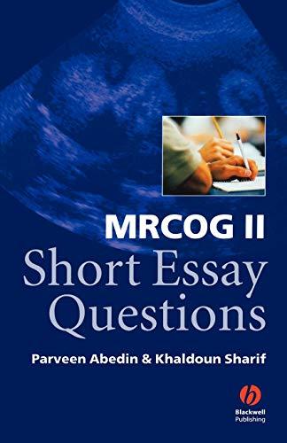 mrcog-ii-short-essay-questions