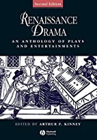 Renaissance Drama: An Anthology of Plays and…